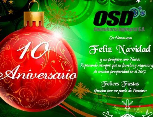 Aniversario N° 10 de OSD Consultoría Ingtegral