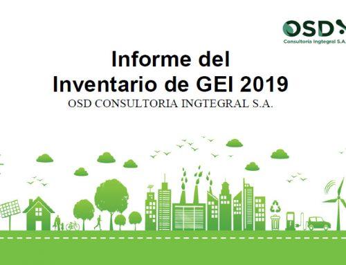 Informe de Inventario de GEI 2019 – OSD Consultoría Ingtegral S.A.