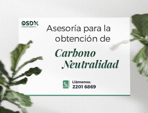 Asesoría para la obtención de Carbono Neutralidad
