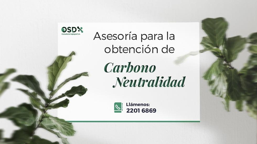 asesoria carbono neutralidad osd